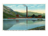 Berlin, New Hampshire, Southern View of the Cascade Mill and Power House Posters by  Lantern Press