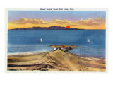 Utah, Panoramic Sunset View of the Great Salt Lake from Sunset Beach Posters