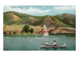 Palmer Lake, Colorado, View of a Couple in a Rowboat on the Lake Prints by  Lantern Press