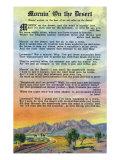 New Mexico, Scenic Desert View with Mornin' on the Desert Poem Prints