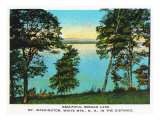 Sebago Lake, Maine, View of Lake, Mt. Washington in the Distance Prints by  Lantern Press