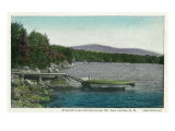 New London, New Hampshire, View of Pleasant Lake and Kearsarge Mountain Prints