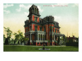 Salt Lake City, Utah, Exterior View of the Gardo House Poster