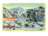 Alta, Utah, Aerial View of Collins Gulch, Giant Ski-Lift, and New Ski Lodge Bldg Prints
