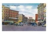Bangor, Maine, Scenic View in Market Square Poster by  Lantern Press