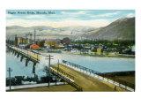 Missoula, Montana, Aerial View of the Higgins Avenue Bridge Prints by  Lantern Press