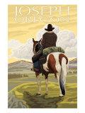 Joseph, Oregon, Cowboy on Horseback Print