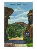 Black Hills, South Dakota, View of Harney Peak Print