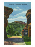 Black Hills, South Dakota, View of Harney Peak Print by  Lantern Press