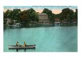 East Hampton, Connecticut, Lake Pocotopaug View of Kayrock Inn Print by  Lantern Press
