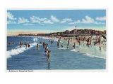Hampton Beach, NH, View of Swimmers in the Water at the Beach Posters