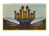 Salt Lake City, Utah, Interior View of the Mormon Tabernacle Choir and Organ Posters