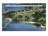 New Hampshire, Aerial View of Wentworth by the Sea, Newcastle and Portsmouth Posters