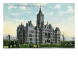 Salt Lake City, Utah, Exterior View of the City and County Building Prints