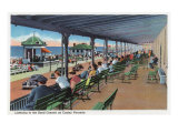 Hampton Beach, NH, Listening to the Band on the Casino Veranda Scene Poster by  Lantern Press