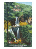 Black Hills, South Dakota, View of Rough Lock Falls, Little Spearfish Canyon Poster by  Lantern Press