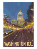 Washington DC, The Capitol Building Prints by  Lantern Press