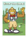 Bigfoot Golfer Posters by  Lantern Press