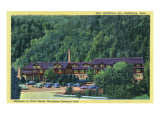 Great Smoky Mts National Park, TN, Exterior View of the New Gatlinburg Inn Posters