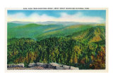 Great Smoky Mts National Park, TN, Aerial View of the Park from Heintooga Ridge Print