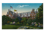 Narragansett, Rhode Island, Exterior View of the Imperial Hotel Print by  Lantern Press