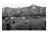 Estes Park, Colorado, Exterior View of the Stanley Hotel Art