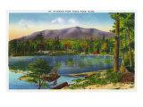 Maine, Togue Pond View of Mount Katahdin Art by  Lantern Press