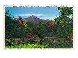 North Carolina, Hominy Creek View of Mount Pisgah Prints by  Lantern Press