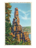 Wisconsin, Devil's Lake State Park View of Cleopatra's Needle Prints by  Lantern Press