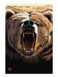 Bear Roaring Prints