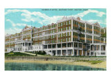 Groton, Connecticut, Exterior View of the Eastern Point of Griswold Hotel Prints by  Lantern Press