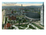 Salt Lake City, Utah, Aerial View of the Temple Grounds towards Union Station Prints