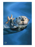 Sea Otter Poster af  Lantern Press