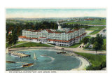 New London, Connecticut, Aerial View of the Eastern Point of the Griswold Hotel Prints by  Lantern Press