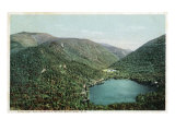 White Mts., New Hampshire, Aerial View of Echo Lake and Franconia Notch Prints