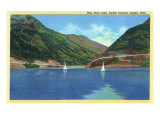 Ogden, Utah, Ogden Canyon View Sailboats on Pine View Lake Art by  Lantern Press