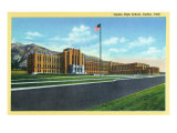 Ogden, Utah, Exterior View of the Ogden High School Posters by  Lantern Press