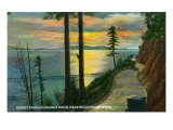 Bellingham, Washington, Sunset View from Chuckanut Drive, near Bellingham Posters