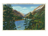 Salmon River, Idaho, View of Rafters Shooting the Rapids, the River of No Return Posters by  Lantern Press