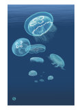 Jellyfish Art by  Lantern Press