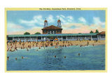 Stamford, Connecticut, View of the Cummings Park Pavilion Print