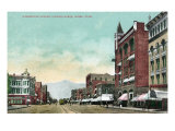 Ogden, Utah, Northern View Down Washington Avenue Print by  Lantern Press
