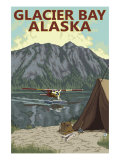 Glacier Bay, Alaska, Bush Plane Fishing Posters by  Lantern Press