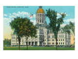 Hartford, Connecticut, Exterior View of the State Capitol Building Posters by  Lantern Press