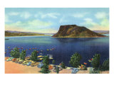 Elephant Butte Lake, New Mexico, View of the Boat Landing, Beach, and Butte Prints