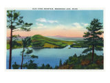 Moosehead Lake, Maine, View of Blue Ridge Mountain and the Lake Posters by  Lantern Press