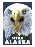 Sitka, Alaska, Eagle Screaming Prints by  Lantern Press