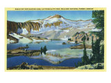Wallowa National Forest, Oregon, General View of Eagle Cap and Glacier Lake Prints by  Lantern Press