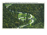 Great Smoky Mts National Park, TN, Aerial View of the Newfound Gay Hwy Loop Prints