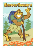 Bigfoot Hiker Art by  Lantern Press